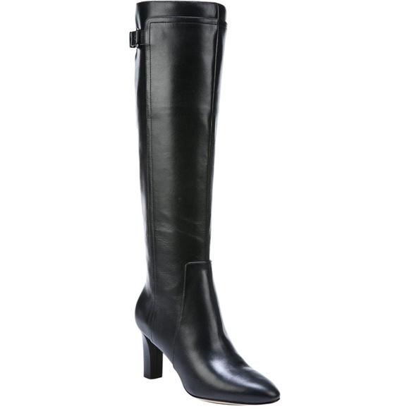 aa10b1c7157 NEW Via Spiga Pacra Leather Knee High Boot